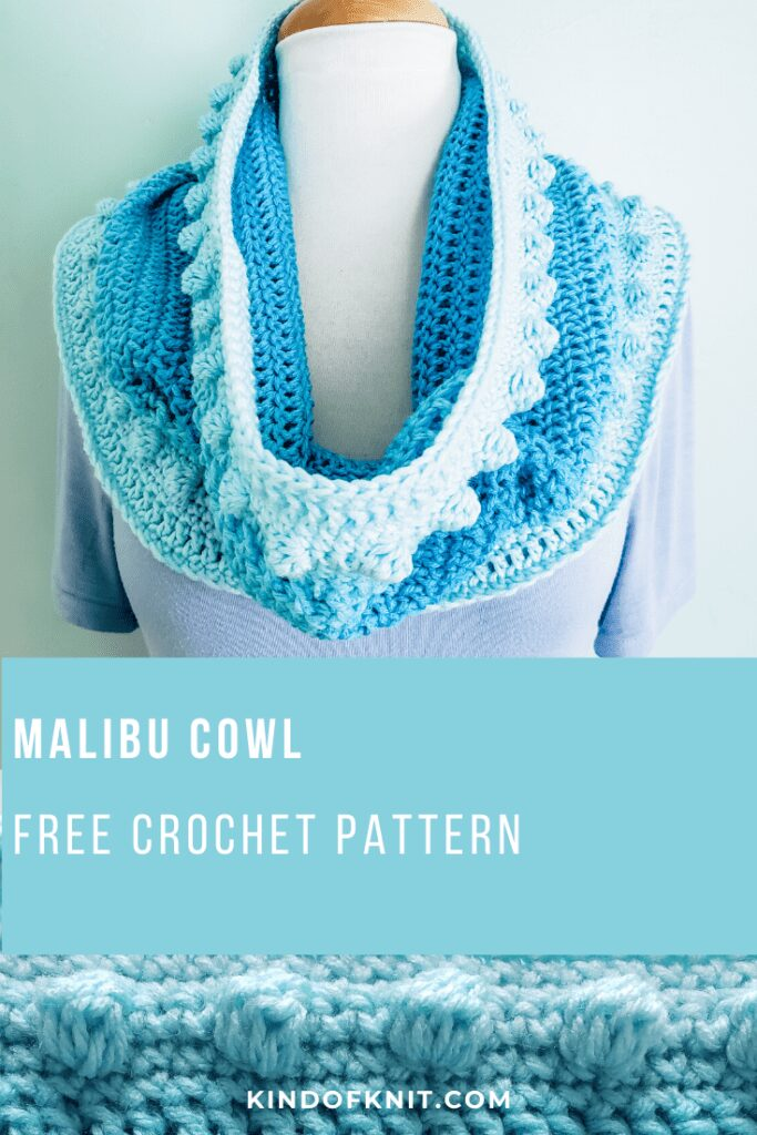 Free Crochet Pattern for Malibu Cowl by KindOfKnit.com