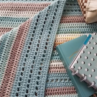 Beachglass Cotton Afghan Crochet Pattern