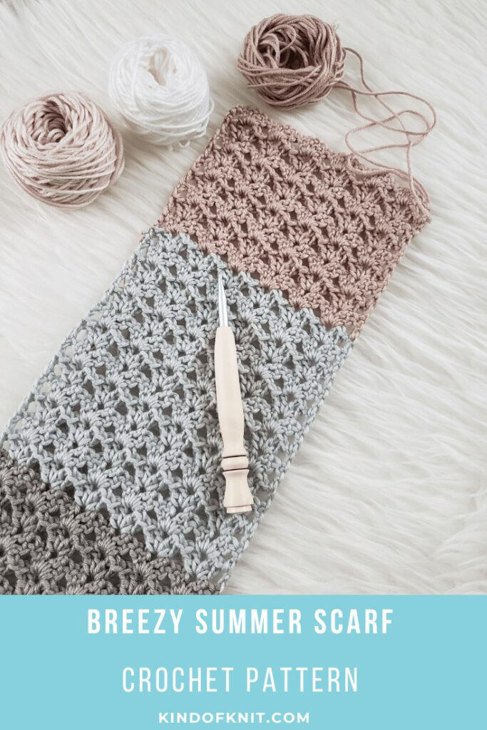 Breezy Summer Scarf pattern from Kind Of Knit