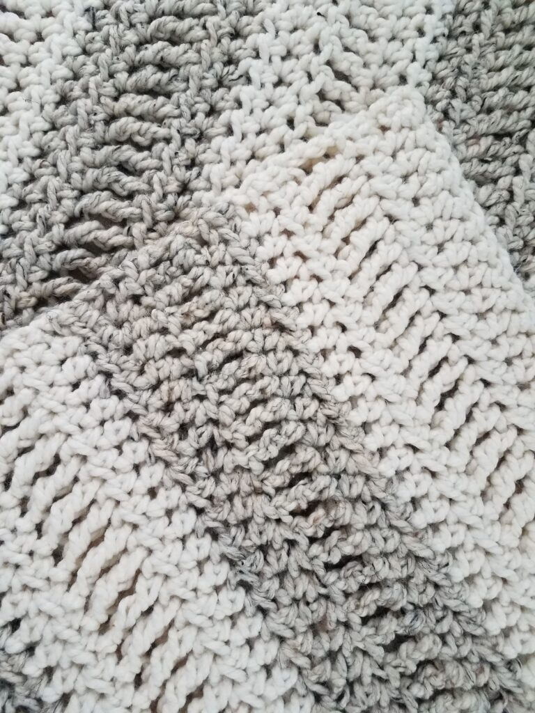 Oregon Chunky Easy Afghan made with TR triple crochet stitche