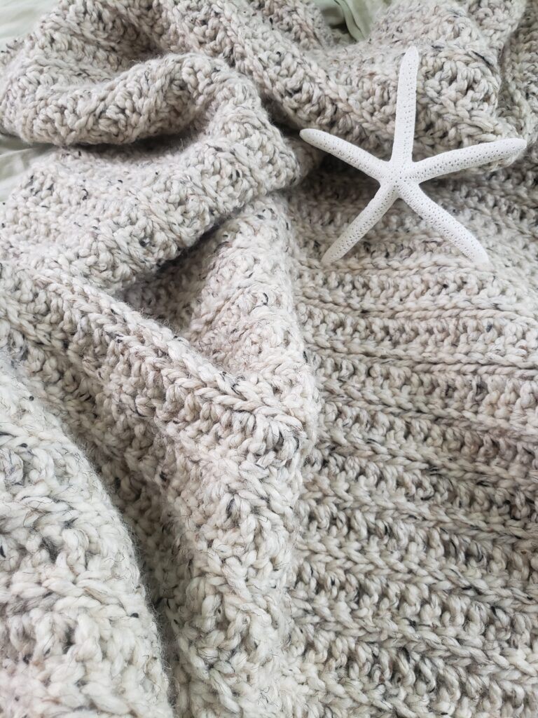 Moonstone Beach Throw crocheted pattern by Kind Of Knit