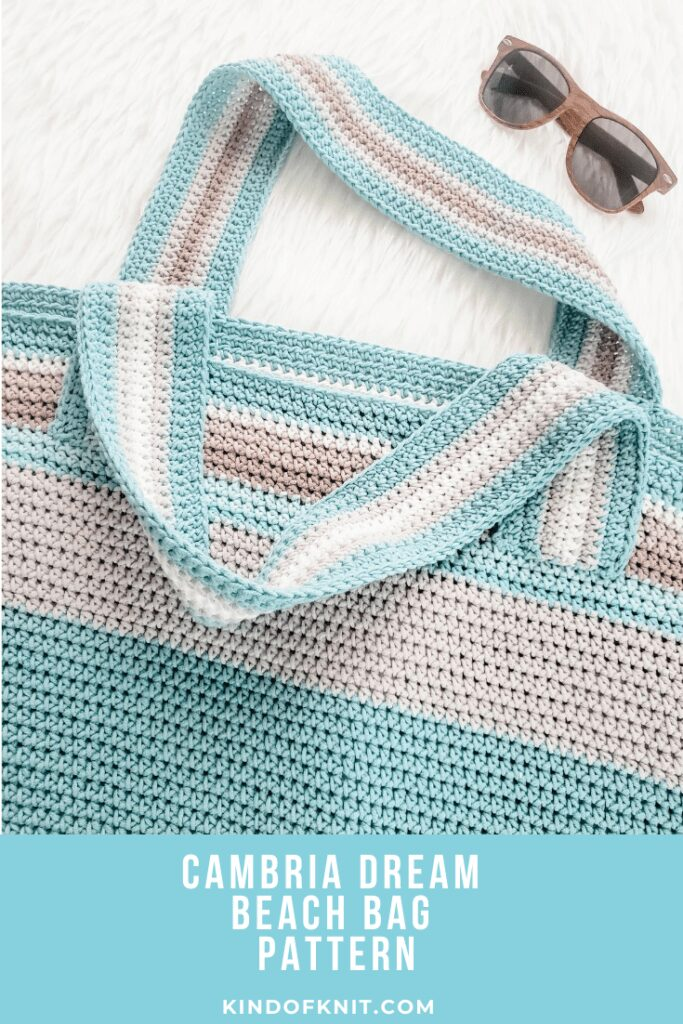 Cambria Dream Beach Bag Pattern from Kind of Knit