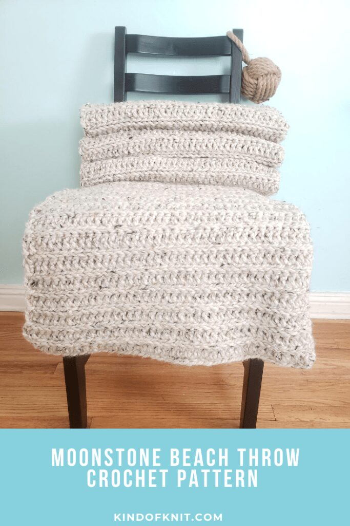 Moonstone Beach Throw crocheted blanket pattern - Kind Of Knit