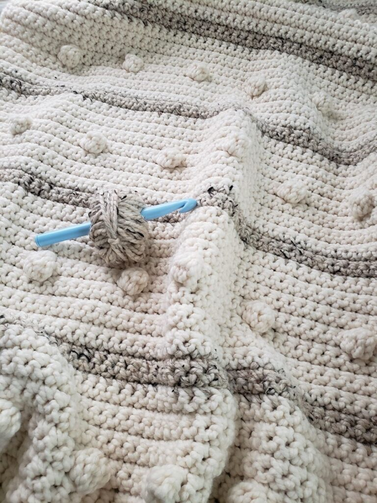 Fog Horn Single Crochet Blanket from KindOfKnit