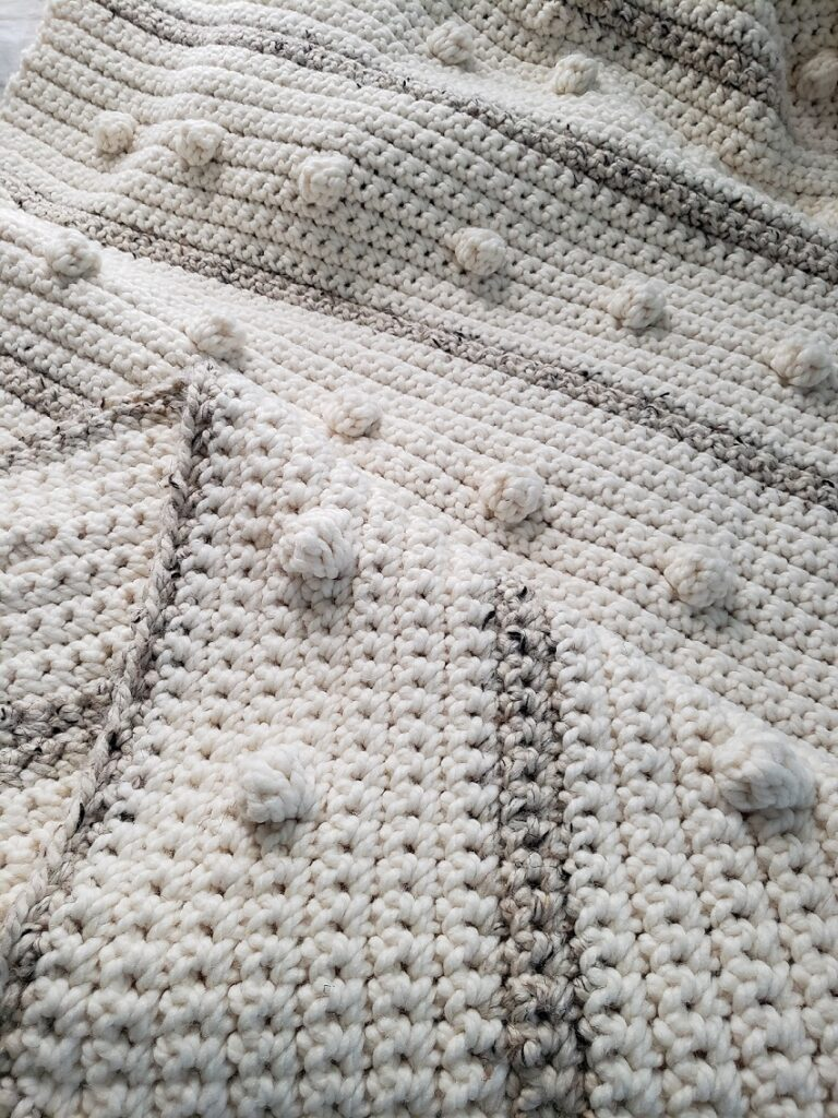 Fog Horn Single Crochet Blanket by Kind Of Knit