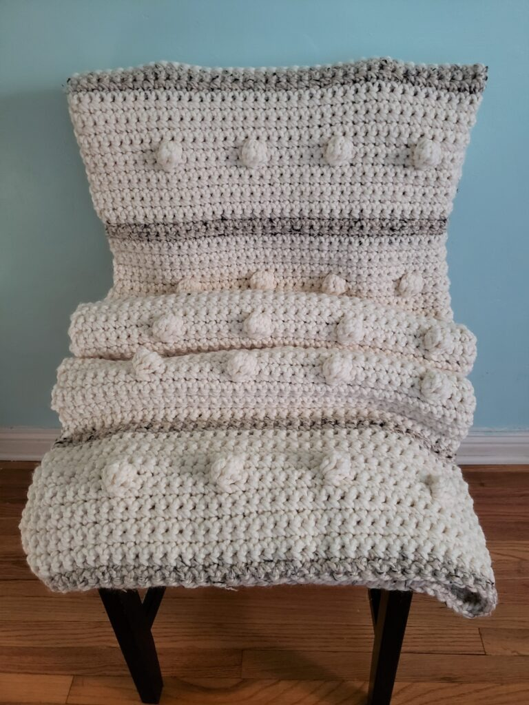 Fog Horn Single Crochet Blanket pattern - KindOfKnit.com