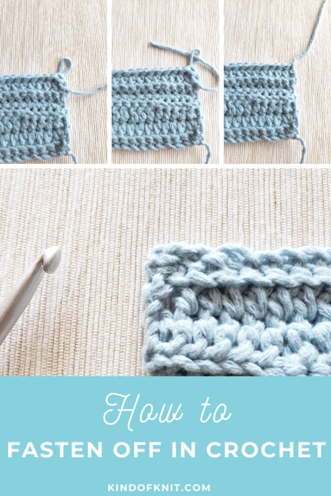 How to Fasten Off and Finish Off in Crochet