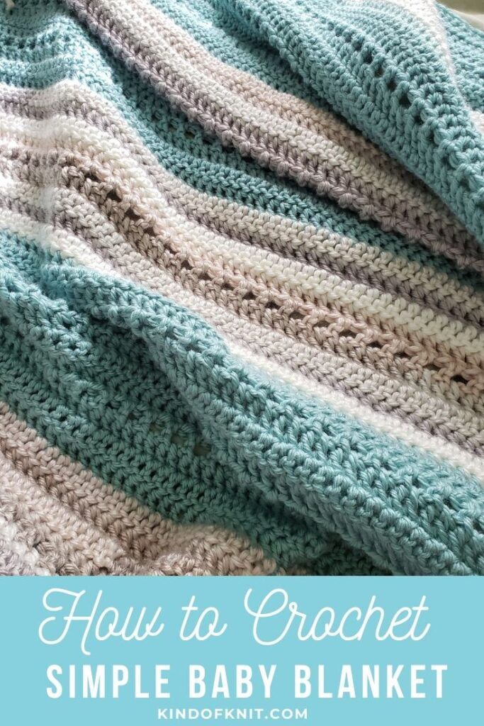 How to crochet a simple baby blanket