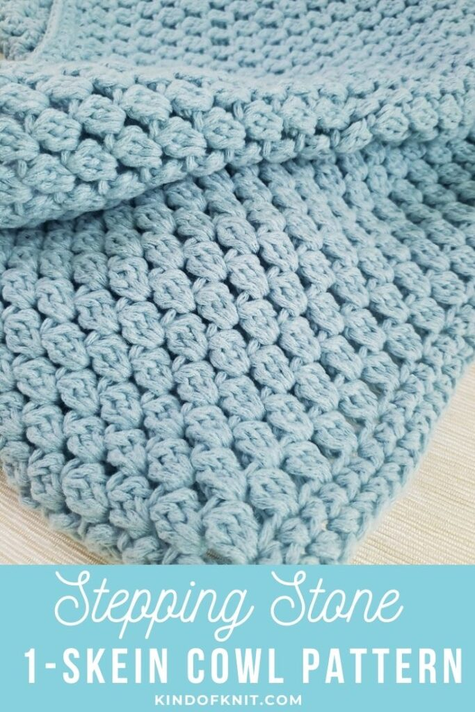 Stepping Stone Cowl Crochet Pattern – by KindOfKnit