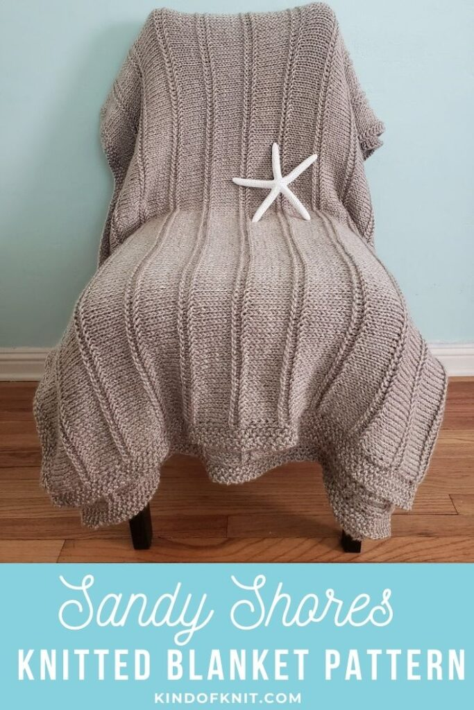 Sandy Shores Knitted Blanket Pattern by Kind Of Knit