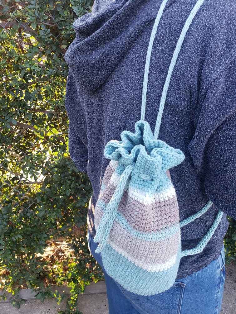 Sand Bucket Crochet Backpack - from Kind Of Knit