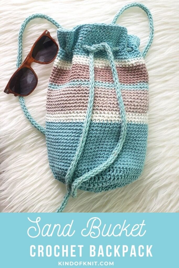 Sand Bucket Crochet Backpack - design by Kind Of Knit