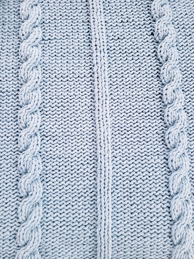 Detail for Del Mar Braided Knitted Blanket Pattern - Kind Of Knit