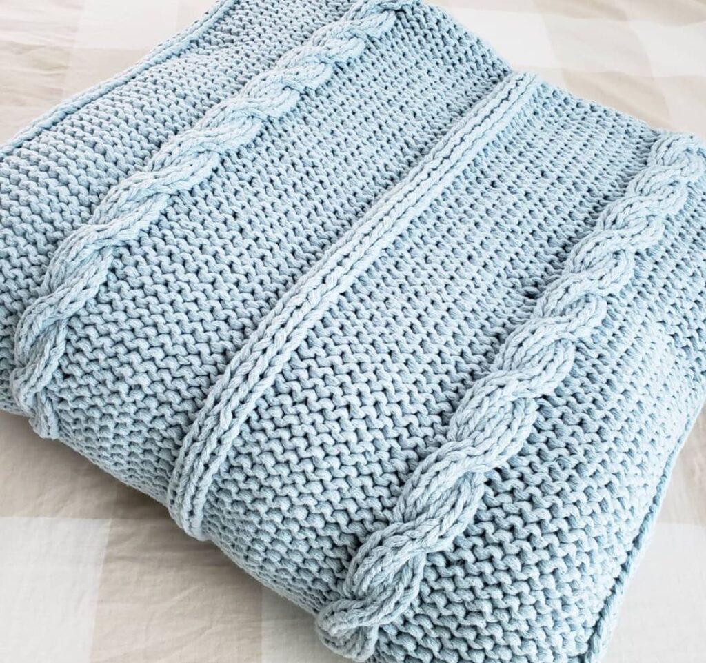 Del Mar Braided Knitted Blanket Pattern - by KindOfKnit