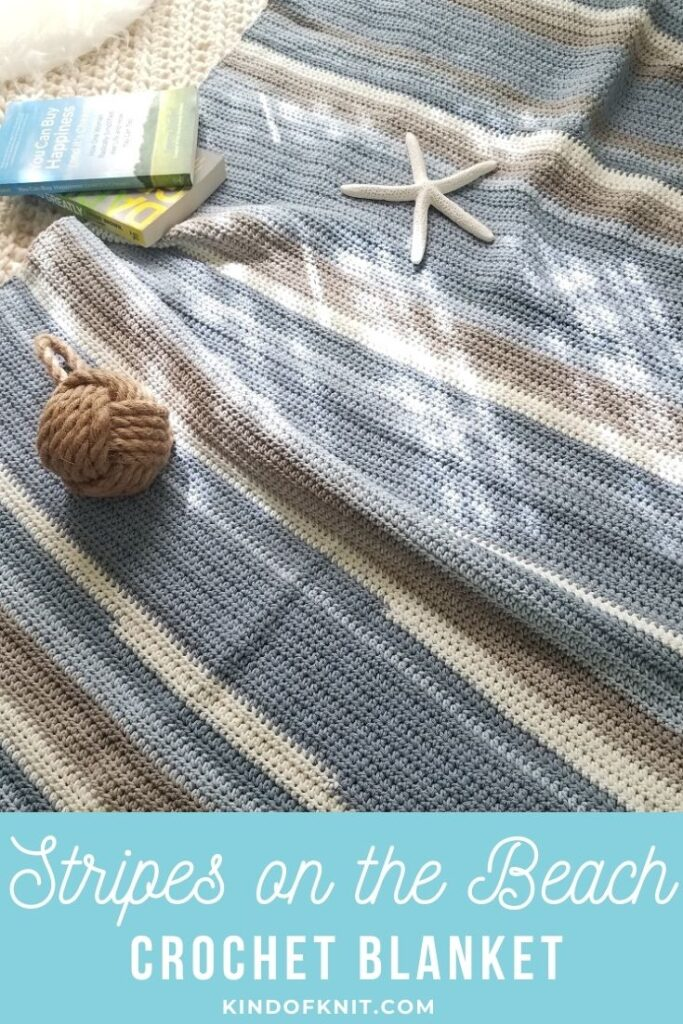 Stripes on the beach blanket - design by Kind Of Knit