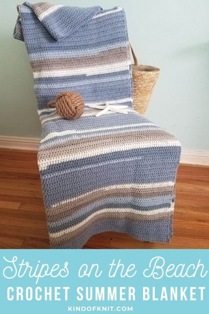 Stripes on the beach blanket - Kind Of Knit