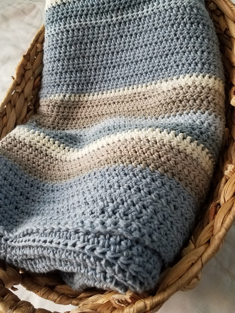 Stripes on the beach blanket - by Kind Of Knit