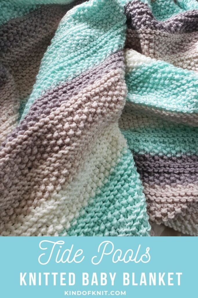 Tide Pools Knitted Baby Blanket - from Kind Of Knit