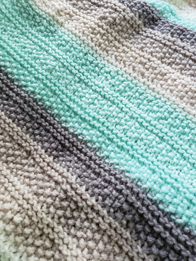 Tide Pools Knitted Baby Blanket - Kind Of Knit