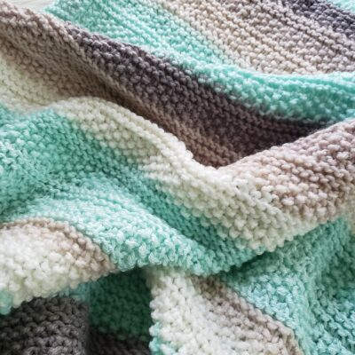 Tide Pools Knitted Baby Blanket Pattern