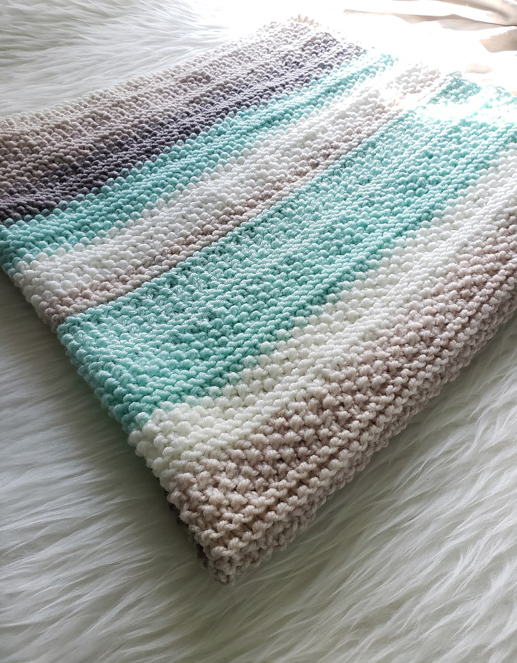 Tide Pools Knitted Baby Blanket - design by Kind Of Knit