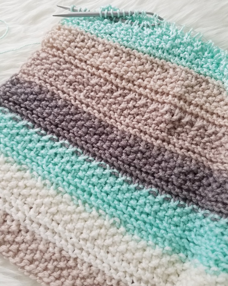 Tide Pools Knitted Baby Blanket from Kind Of Knit
